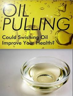 The Art of Oil Pulling ~ Heal, Detox, Whiten Teeth. I also read elsewhere that it may possibly help w/ shiny hair, nice skin, pinker gums. 15-20 mins each morning. Try for a week.