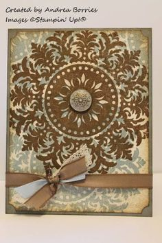 Distressed medallion by andib_75 - Cards and Paper Crafts at Splitcoaststampers