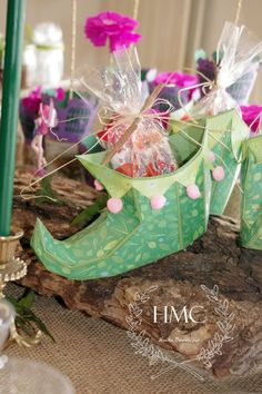 Adorable 3D Paper Elf Shoe for a Fairy Tea Party from - Girly pretties: Enchanted Fairy Party #svgfiles #diy #papercrafts SVGCuts
