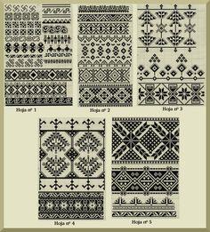Dibujos de bordado vascoBordado en tul