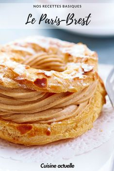 Paris-Brest easy and fast - Featured Desserts Food Köstliche Desserts, Delicious Desserts, Dessert Recipes, Paris Brest Paris, Choux Pastry, Homemade Muesli, French Pastries, French Food, Vegan Recipes Easy