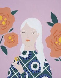 Ayumi Takahashi | Graphical Portrait Illustration
