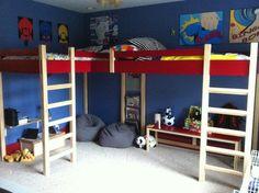 dual corner loft bed plans