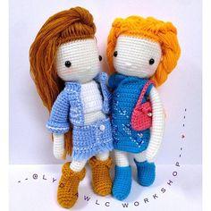 My Crochet Doll No.7 & 6 Cowboy Girl  Chinese Doll