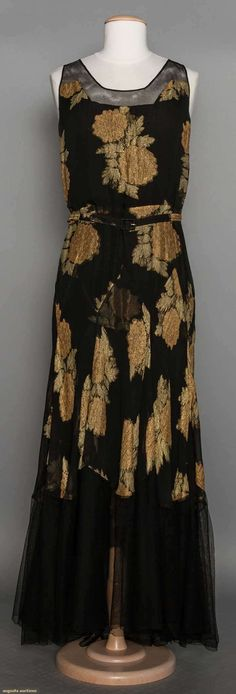 Chiffon & Lame Evening Gown, 1930s, Augusta Auctions, November 11, 2015 NYC