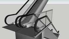 Escalator Sketchup Model, 3d Warehouse, Interior Design, Studios, Software, Models, Furniture, Gallery, Home Decor