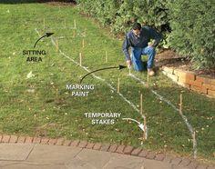 Build a Brick Pathway in the Garden