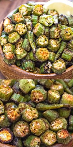 This is a simple, flavorful, and easy Baked Okra recipe. Seasoned with paprika, salt, and a pinch of cayenne, this okra makes a great snack or side dish. FOLLOW Cooktoria for more deliciousness! #okra #vegetables #vegan #vegetarian #plantbased #healthyrecipe #cooktoria