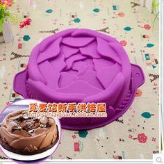 1 PZ 7.2 pollici Silicone rosa forma cake mold Mete Bundt pan Vassoio della Vaschetta di Cottura