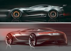 Porsche Concept Design Sketch by Balazs Filczer Car Design Sketch, Car Sketch, Motor Works, Car Illustration, Illustrations, Interior Concept, Transportation Design, Automotive Design, Aston Martin