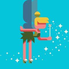 #TinkerBell #pixie #patchworkapp #flatdesign #illustration #kawaii #disney #fairy #sprite #design #graphic