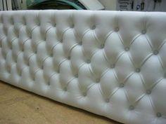 Fabricación artesanal de un cabecero tapizado de cama