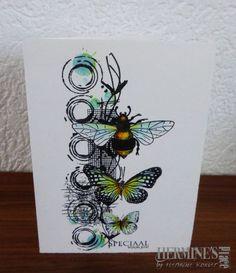 Ben dol op clean and simple - Kaarten Maken Card Making Tutorials, Card Making Techniques, Making Ideas, Card Making Inspiration, Art Journal Inspiration, Butterfly Cards, Flower Cards, Mixed Media Cards, Bee Cards
