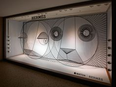 1 of shop window installation designed by gamfratesi for apple watch hermès Window Display Design, Store Window Displays, Retail Displays, Visual Merchandising Displays, Visual Display, Hermes Window, Hermes Apple Watch, Decoration Vitrine, Watch Display