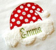 Santa Hat applique design machine by trendystitchdesigns on Etsy, $3.99