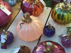 Glass pumpkins at the Santana Row Glass pumpkin patch, 2017