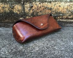 Leather Sunglasses Case by EleishaNylund on Etsy