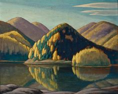 """Lake and Mountains,"" Lawren Stewart Harris, ca. 1926, oil on pressboard, University of Toronto Art Collection."
