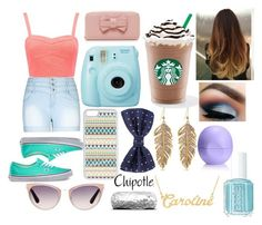"""""""Caroline- The White girl- Goes to Starbucks"""" by disney-dancer14 ❤ liked on Polyvore featuring Forever New, City Chic, Vans, Vivienne Westwood, Fuji, CellPowerCases, Tom Ford, Knightsbridge Neckwear, Essie and Eos"""