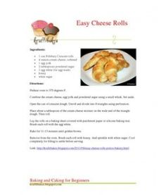 Portos Cheese Rolls Recipe, Cheese Roll Recipe, Easy Cheese, Crescent Dough, Crescent Rolls, Cheese Rolling, Puerto Rican Recipes, Bread And Pastries, Yummy Treats