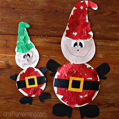 Learn how to make paper plate elves for a Christmas craft! It's a fun holiday art project for the kids to make.