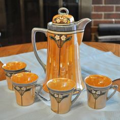 Chocolate Set - Luster Glazed offered by Daisy Antiques