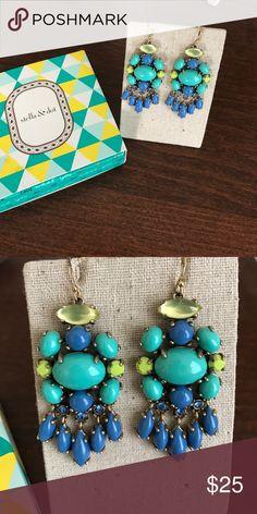 Stella & Dot Drop Earring Beautiful blues and greens drop earrings from Stella & Dot. Stella & Dot Jewelry Earrings