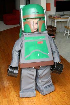 Star Wars: Boba Fett Lego Cosplay Kids
