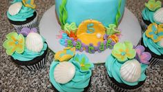 Ariel cake and cupcakes 1 by sweetmother1, via Flickr