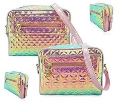 LADIES HOLOGRAPHIC QUILTED DESIGNER LYDC SATCHEL MESSENGER FASHION SHOULDER BAG in Clothing, Shoes & Accessories, Women's Handbags & Bags, Handbags & Purses | eBay