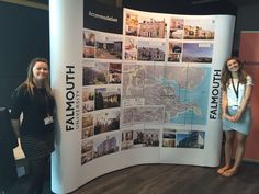 Accommodation Stand looking great with Claire and Steph on the Falmouth University Open day
