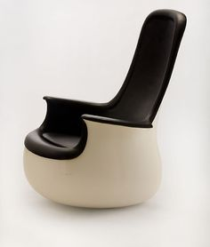 High-back chair by Marc Held for Knoll (1965 to 1967).