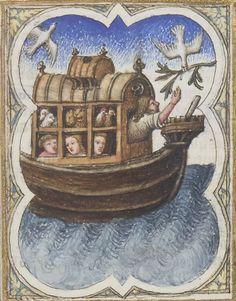 Bible moralisée, texte latin avec la traduction, jusqu'à Isaïe. -- 1301-1500 -- manuscrits