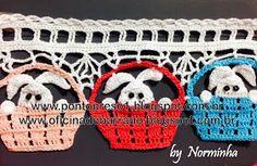 Ponto Preso1: Croche - Coelhinhos Especiais Barrados ...
