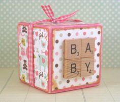 Baby Girl Wooden Block, Decorated Block, Baby Girl Gift, Nursery Decor, Wooden Decoration, Homewares on Etsy, $13.35 AUD