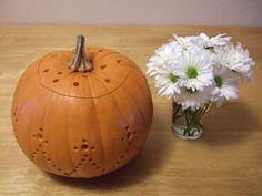 DIY Halloween Pumpkin Lanterns Carved with a Drill