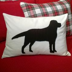 Hand Appliqued Cooper Pillow - From the Home Decor Discovery Community at www.DecoandBloom.com