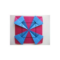 Origami Photo Frame Folding Instructions - How to Make an Origami Photo Frame found on Polyvore