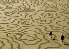 Beautiful sand art by Andres Amador.  #sand #art #canvas #beach #tides #ocean #sea #water #nature #coastal #swirls | www.republicofyou.com.au