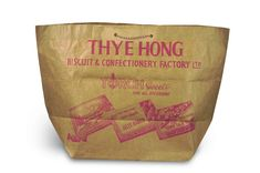 Paper bag of Thye Hong Biscuit & Confectionery Company from the 1950s. Courtesy of the National Museum of Singapore, National Heritage Board.