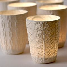 (CREAM) Cozy Christmas #lulus and #holidaywear - 5 Sweater Candle Holders For Cozy Christmas | Shelterness
