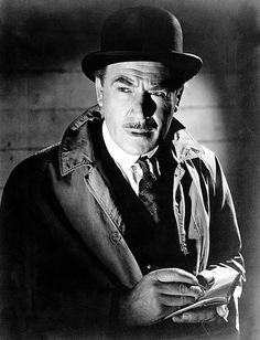 Dennis Hoey as Inspector Lastrade in the Basil Rathbone film series Sherlock Holmes