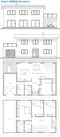 house design affordable home ch316 41 plan maisonprojet - Plan Maison Architecte Design