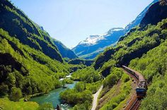 The Flaam Railway, Norway   Gary & I rode this train while in Norway, beautiful scenery...