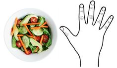 Hand = Veggies #healthyeating