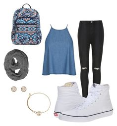 """""""School #1"""" by kj-ales on Polyvore featuring Ally Fashion, Vans, Alex and Ani, Forever 21 and Vera Bradley"""
