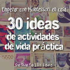 Si quieres empezar a aplicar el método Montessori en casa , te recomiendo que vayas poquito a poco, sin agobios (ni para ti, ni para el...