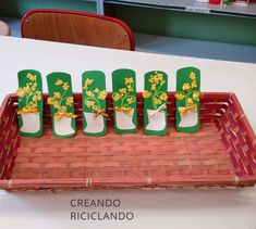 Mimosa fai da te, festa donna, riciclo creativo,DIY, bambini creativi
