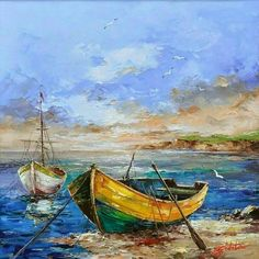 Landscaping watercolor boat Ideas for 2020 Seascape Paintings, Landscape Paintings, Pinterest Pinturas, Boat Drawing, Boat Art, Boat Painting, Painting Techniques, Art Oil, Watercolor Paintings