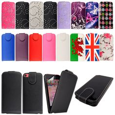 Wallet Flip PU Leather Case Cover For Apple Iphone 5C With Free Screen Protector